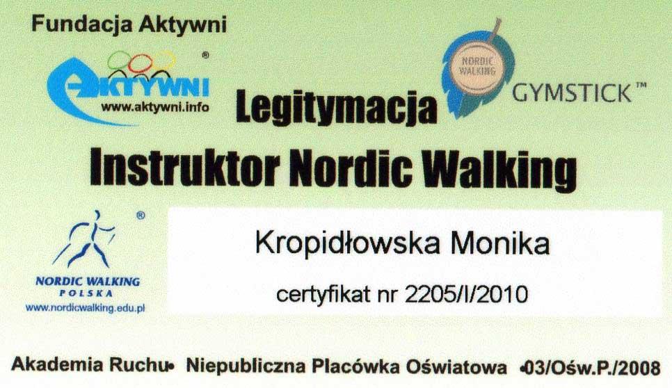 Kinesis Studio Certyfikat Instruktora Nordic Walking
